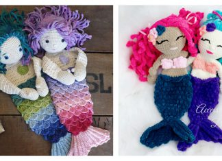 Mermaid Ragdoll Free Crochet Pattern and Paid