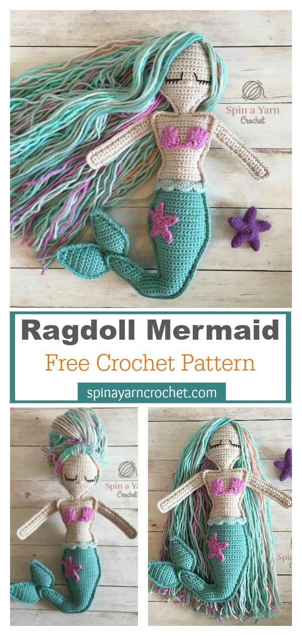 Mermaid Ragdoll Free Crochet Pattern