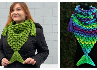 Mermaid Triangle Scarf Free Crochet Pattern