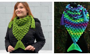 Mermaid Triangle Scarf Free Crochet Pattern