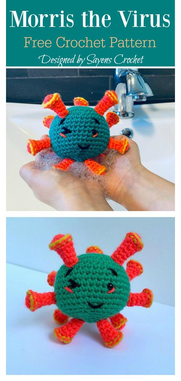 Morris the Virus Amigurumi Free Crochet Pattern