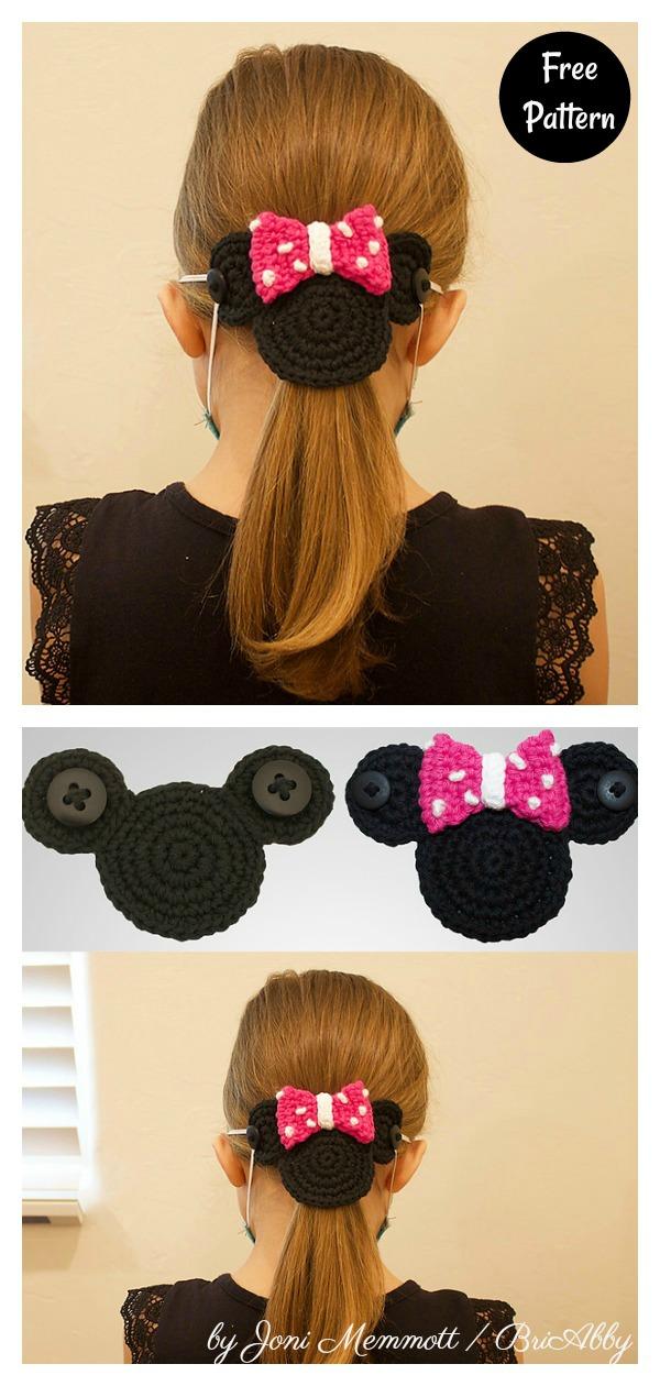 Mouse Mask Mates Ear Savers Free Crochet Pattern