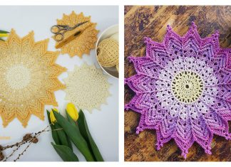 Ray of Sunshine Coaster and Mandala Free Crochet Pattern