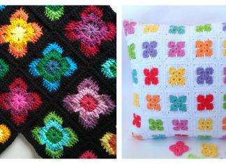 Retro Vibe Square Free Crochet Pattern