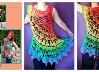 Spiderdream Tunic Top Crochet Pattern