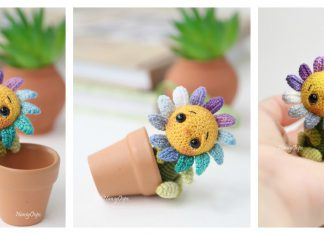 Tiny Flower Amigurumi Free Crochet Pattern