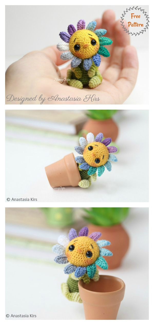 Tiny Flower Amigurumi Free Crochet Pattern