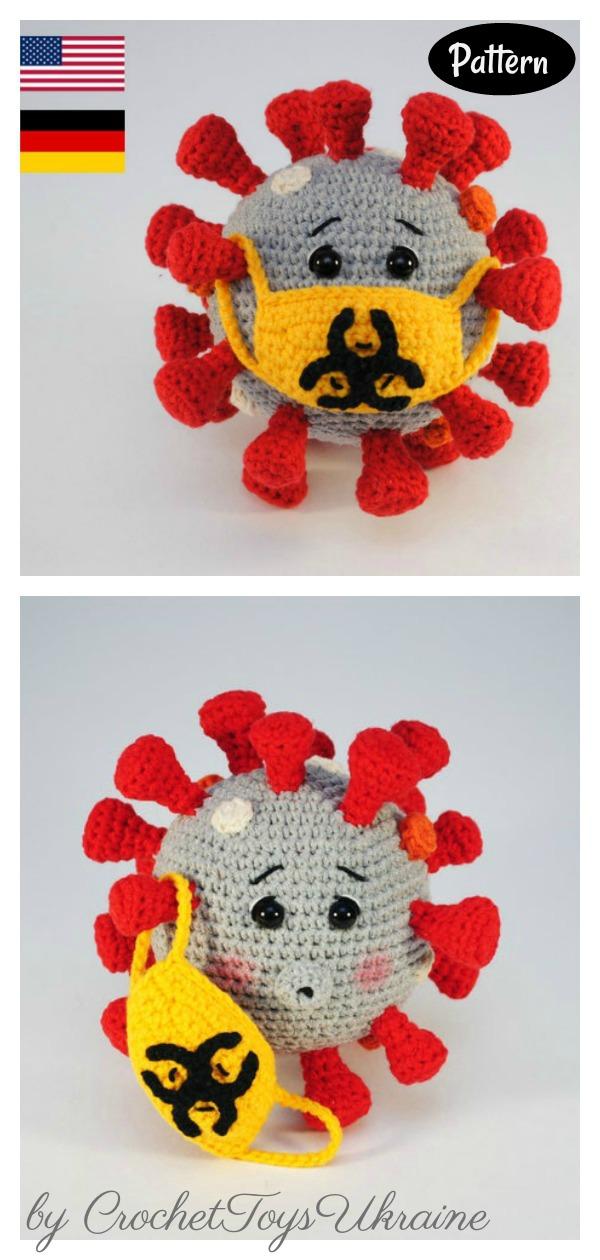 Virus Amigurumi Crochet Pattern