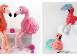 Amigurumi Flamingo Free Crochet Pattern and Paid