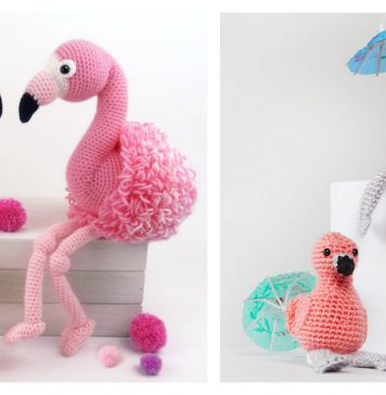 Amigurumi Flamingo Free Crochet Pattern and Paid