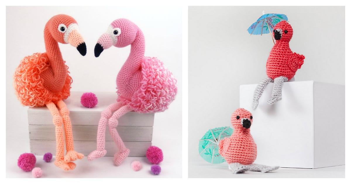 Free Crochet Flamingo Pattern - Grace and Yarn | 630x1200