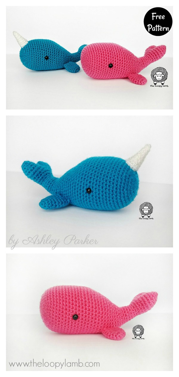 Free Amigurumi Whale Pattern - Knits and Knots by AME | 1260x600
