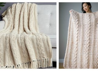 Braided Cable Blanket Free Crochet Pattern