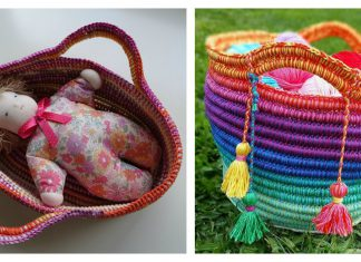 Coiled Basket Free Crochet Pattern