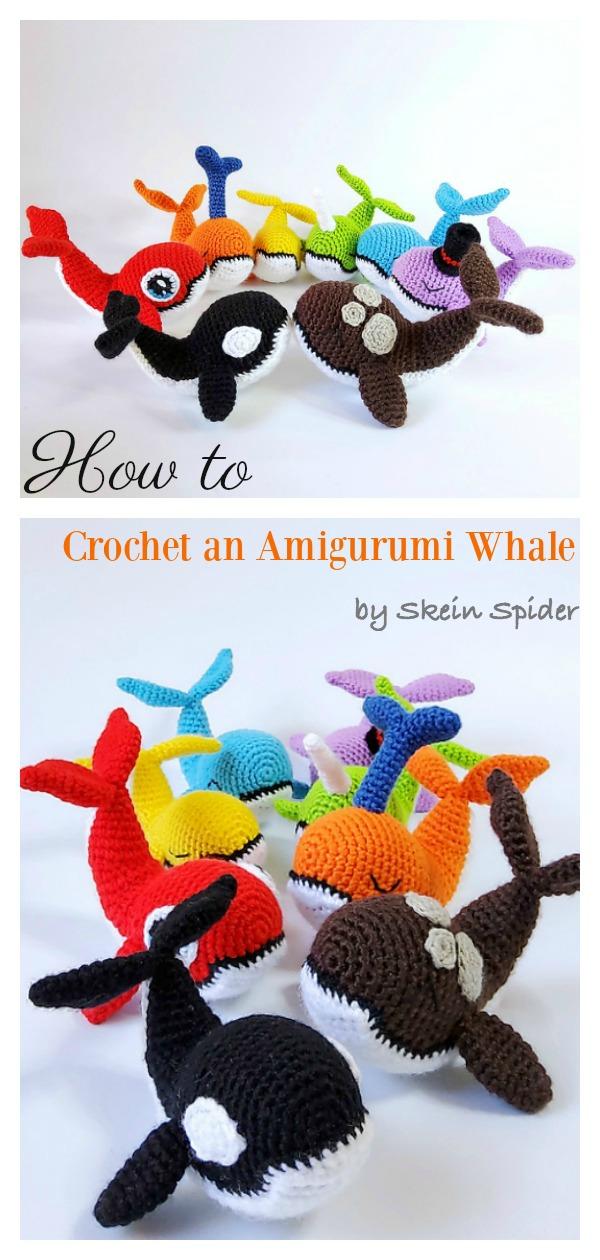 Crochet Baby Humpback Whale Amigurumi Free Pattern - #Amigurumi ... | 1260x600