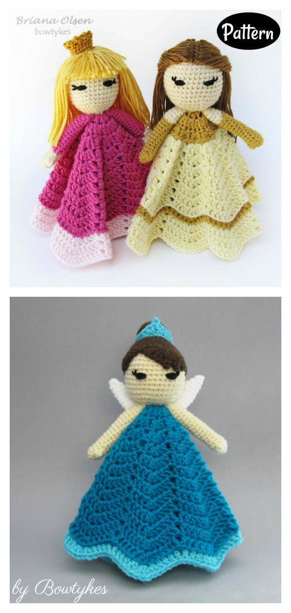 Princess Doll Lovey Crochet Pattern