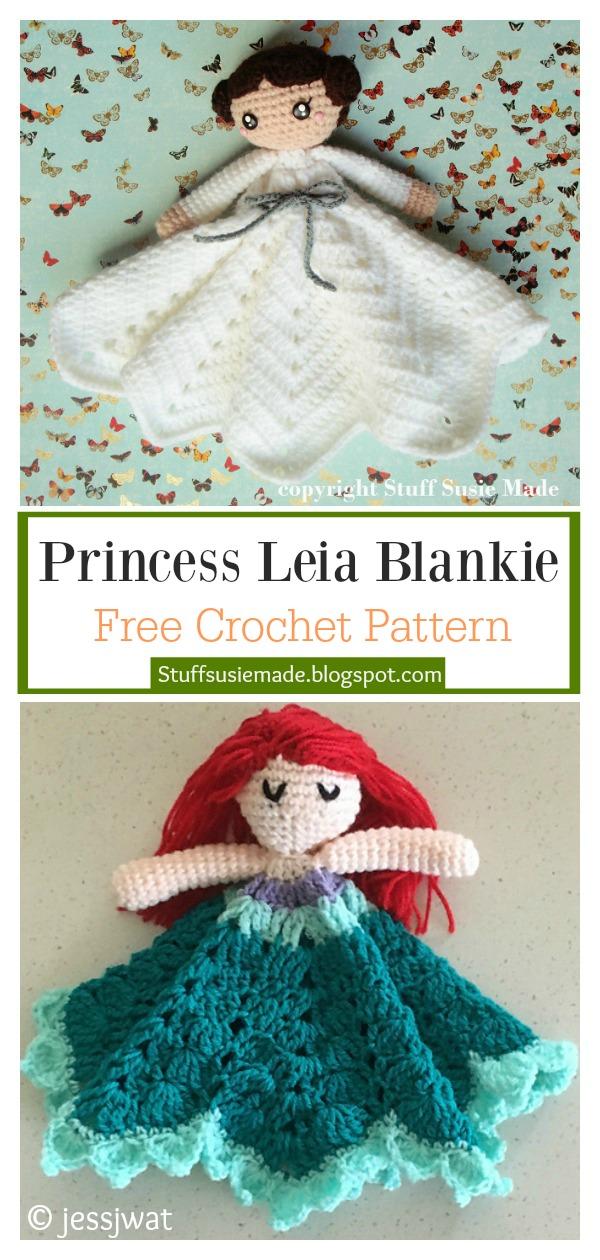 Princess Leia Blankie Doll Lovey Free Crochet Pattern