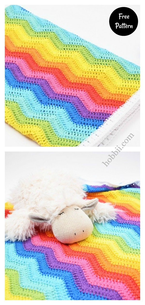 Rainbow Baby Wrap Free Crochet Pattern