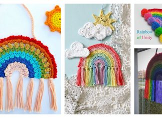 Rainbow Decoration Free Crochet Pattern