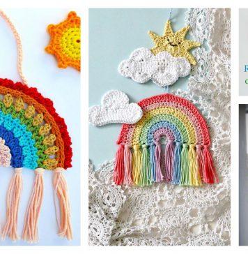 Rainbow Decoration Free Crochet Pattern