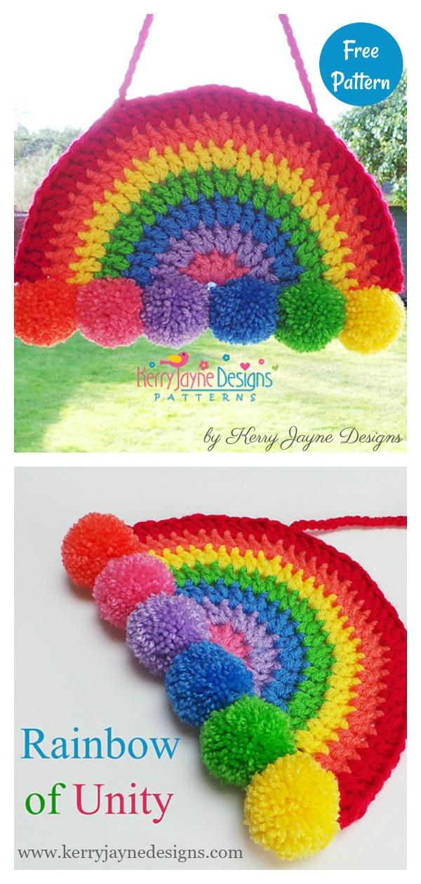 Rainbow of Unity Decoration Free Crochet Pattern