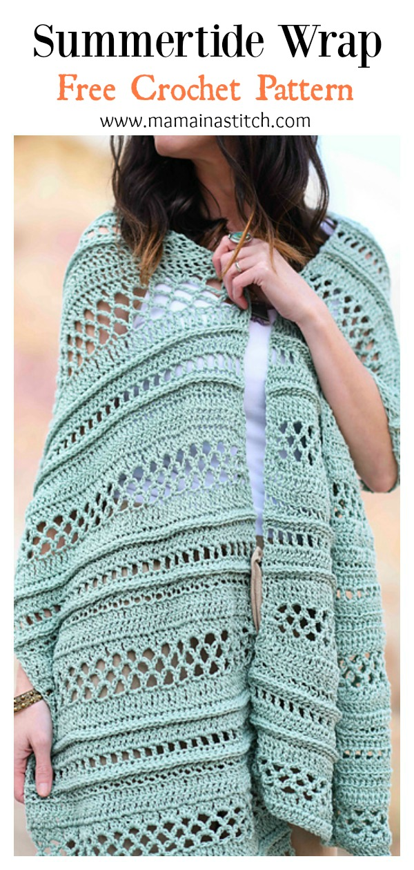 Sampler Shawl Summertide Wrap Free Crochet Pattern