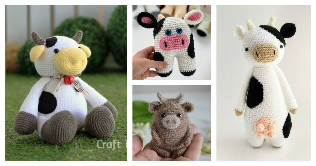 Amigurumi Cow - FREE Crochet Pattern and Tutorial.... not that you ... | 630x1200
