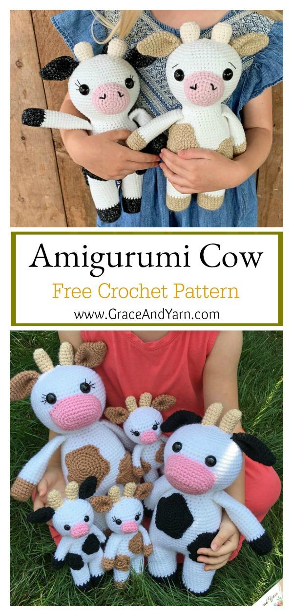 Adorable Amigurumi Cow Free Crochet Pattern