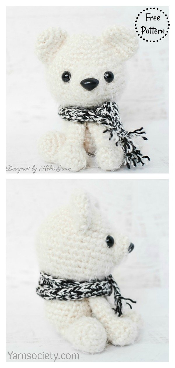 Amigurumi Parker The Polar Bear Free Crochet Pattern