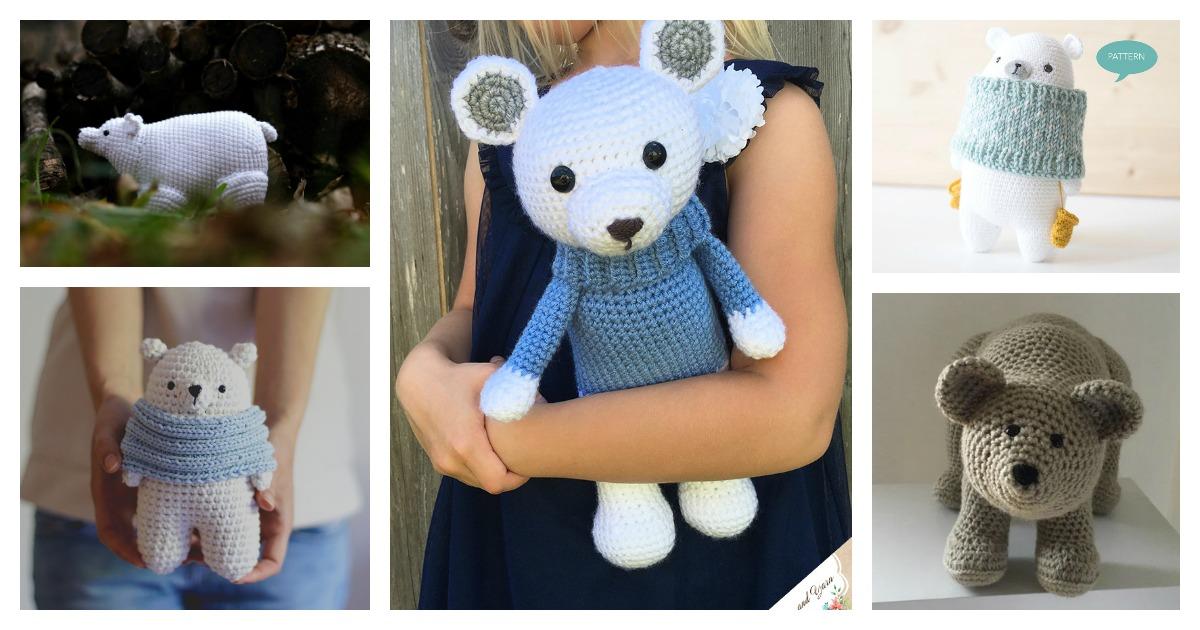 Bear Free Amigurumi Pattern - Free crochet pattern Grizzly Bear ... | 630x1200
