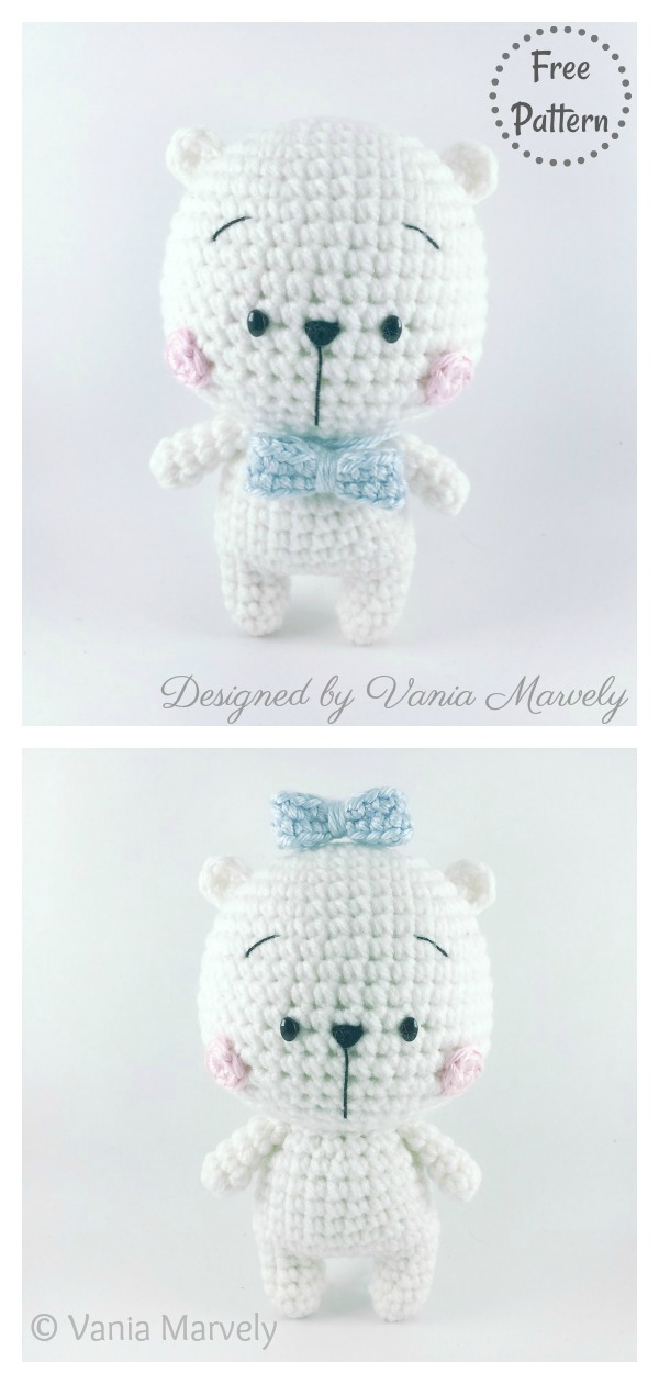 Amigurumi Polar Bear Toy Free Crochet Pattern