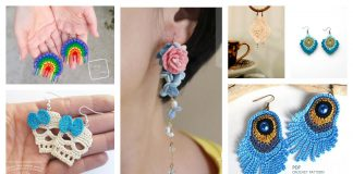 Awesome Earrings Free Crochet Pattern and Paid
