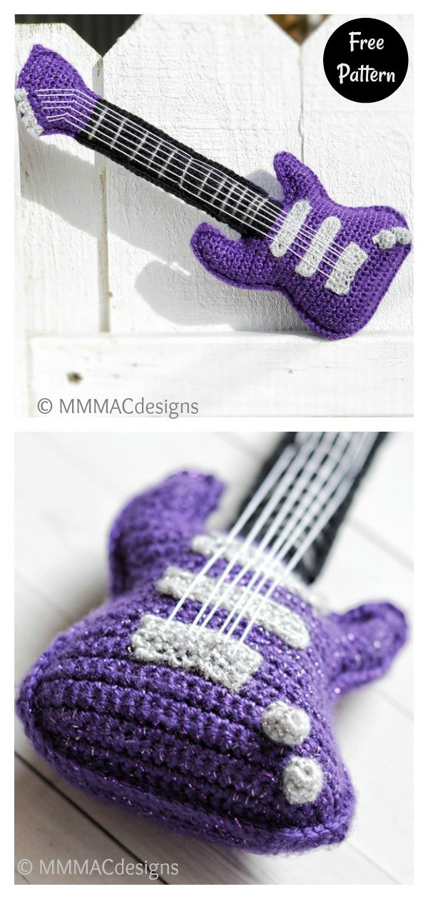 Baby Electric Guitar Free Crochet Pattern