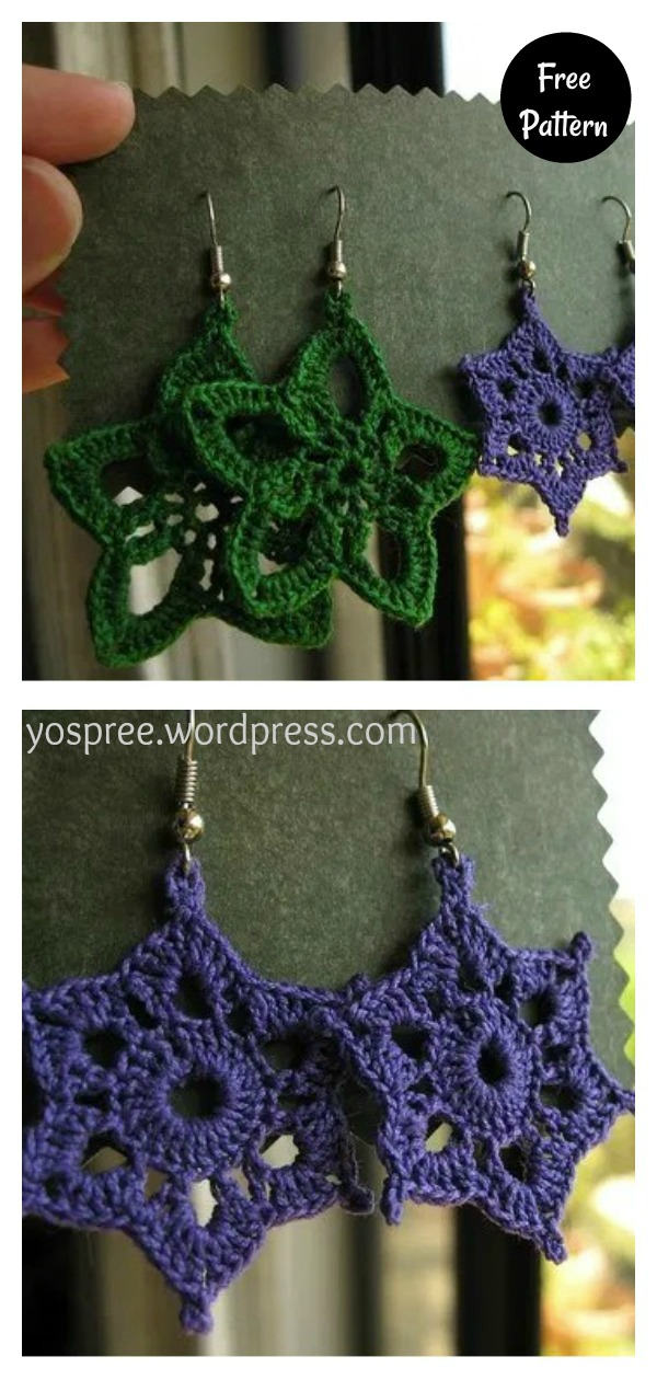 Birthday Earrings Free Crochet Pattern