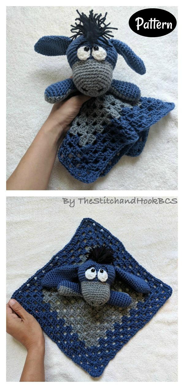 Disney Baby Eeyore Lovey Security Blanket Crochet Pattern