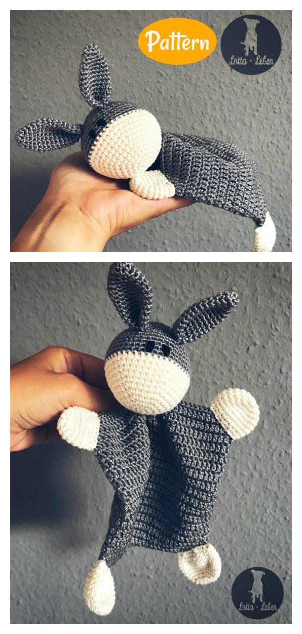 Donkey Lovey Blankie Crochet Pattern