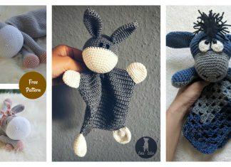 Donkey lovey Security Blanket Crochet Patterns