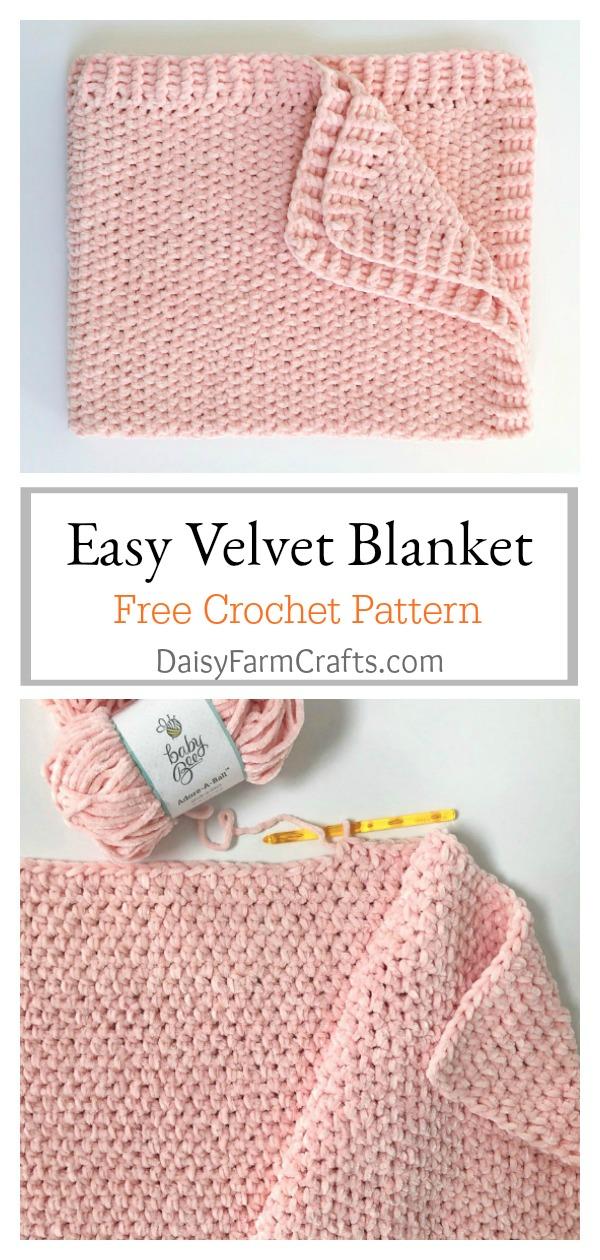 Easy Chunky Velvet Blanket Free Crochet Pattern