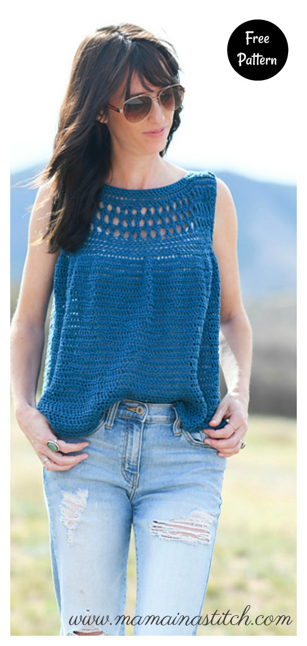 Easy Summer Vacation Top Free Crochet Pattern