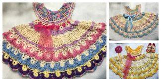 Fantail Summer Baby Dress Crochet Pattern