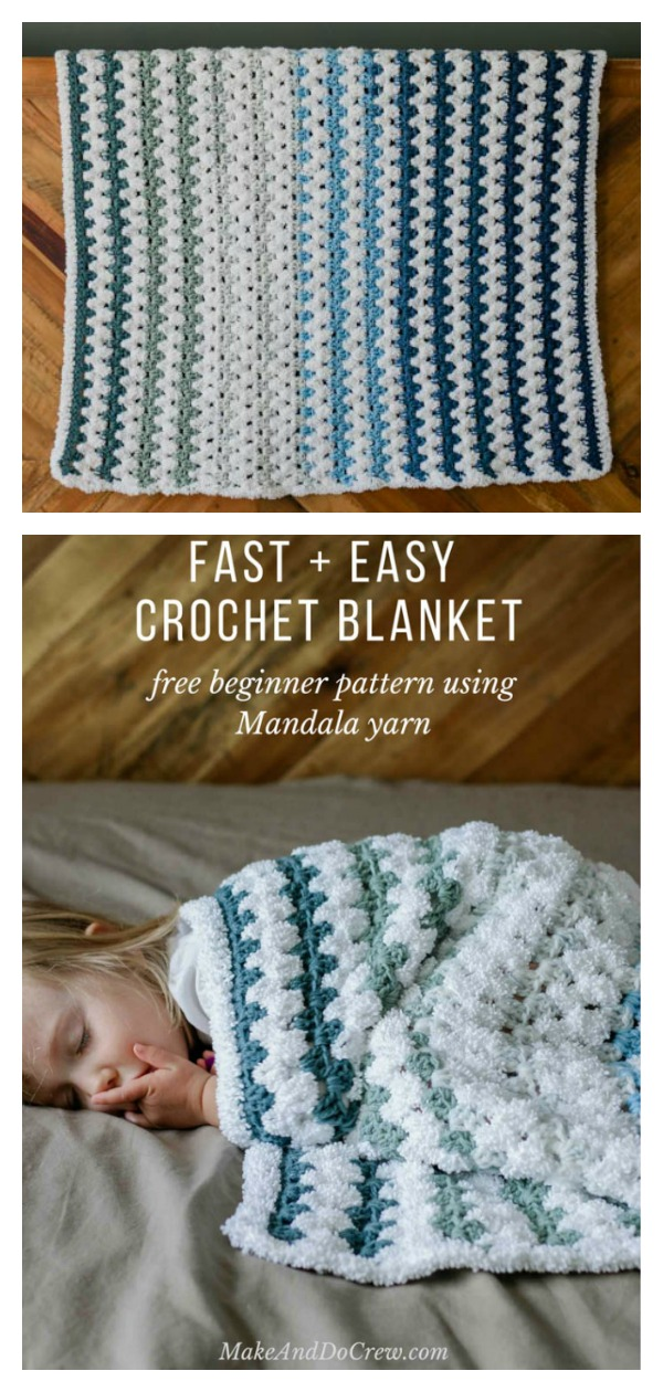 Fast and Easy Blanket Free Crochet Pattern