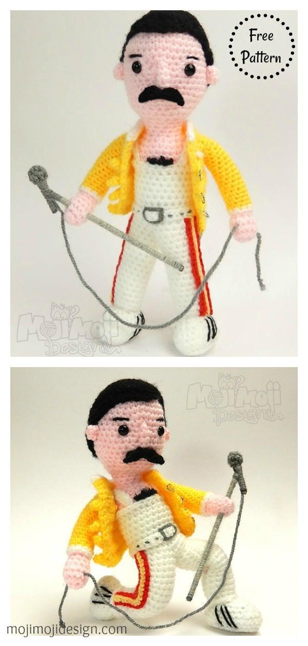 Freddie Mercury Free Crochet Pattern