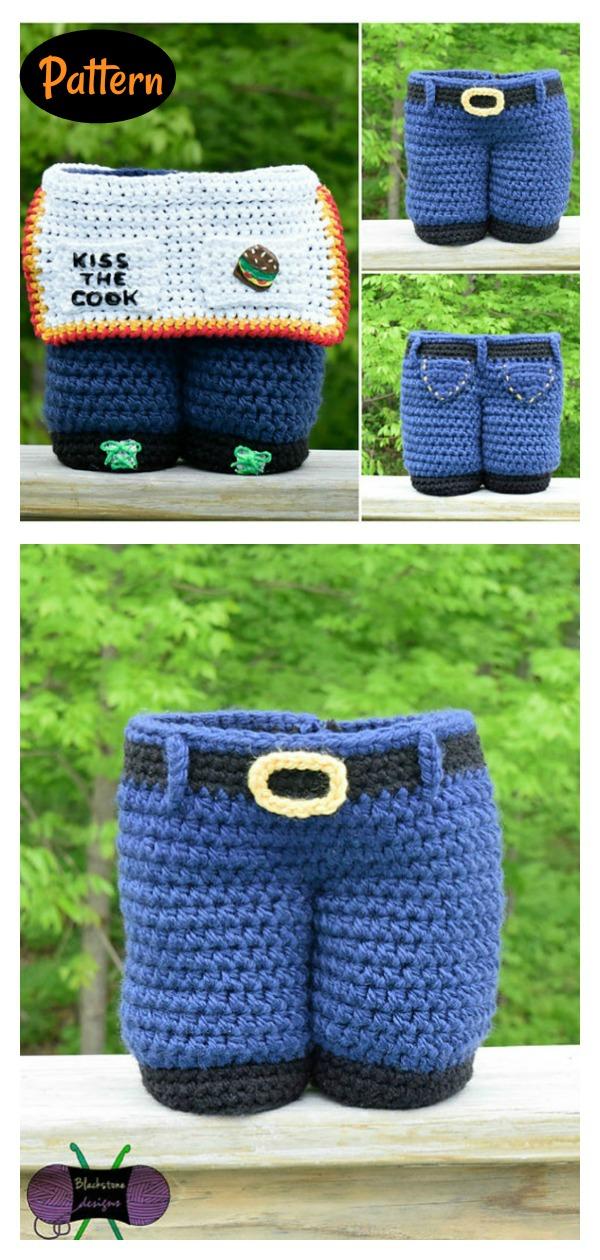 Gift Bag for Men Crochet Pattern