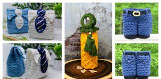 Gift Bag for Men Crochet Patterns