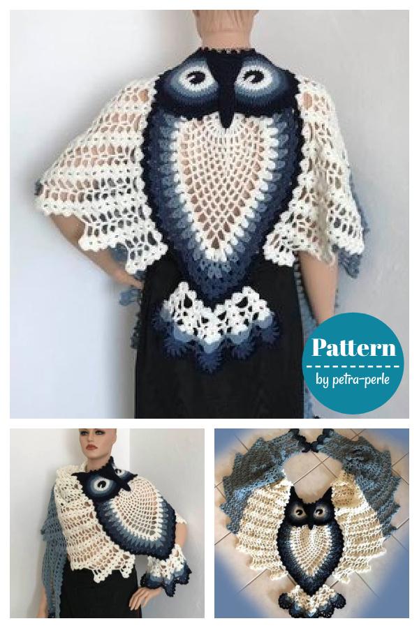 Hedwig Owl Shawl Crochet Pattern