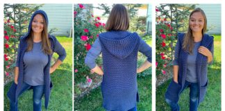 Hooded Vest Free Crochet Pattern