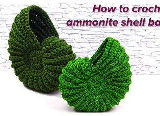 How to Crochet an Ammonite Shell Basket