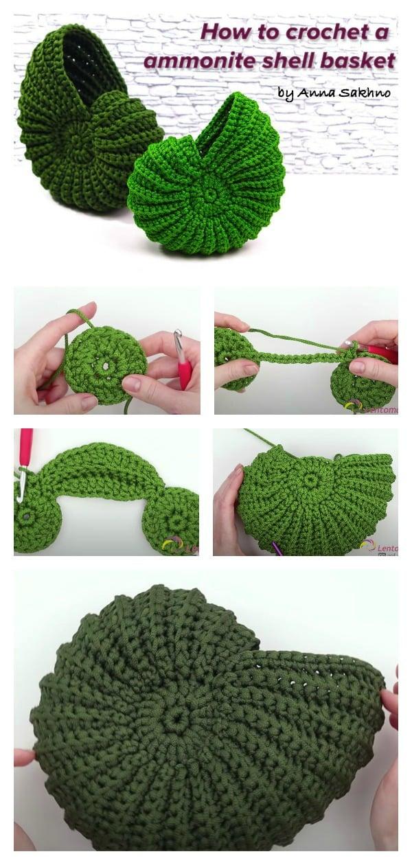 How to Crochet an Ammonite Shell Basket