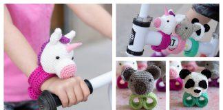 Hugging Stuffed Animal Slap Bracelets Crochet Pattern