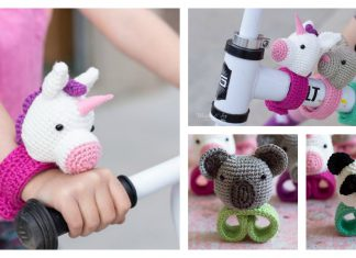 Hugging Stuffed Animal Slap Bracelets Crochet Pattern